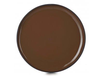 Dezertní talíř hnědý Tonka CARACTERE REVOL
