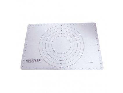 Silikonová podložka na válení těsta se značkami 60 x 40 cm de Buyer