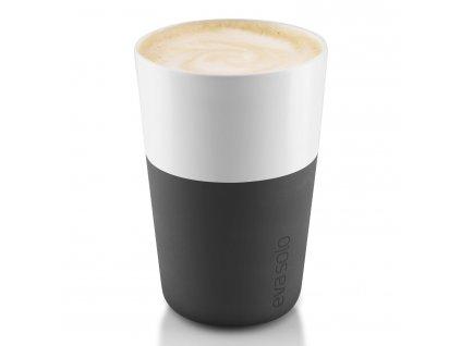Termohrnky na café latte 360 ml 2 kusy karbonově černé