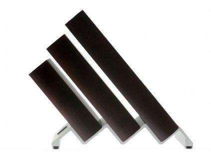 Blok na nože dřevěný Ikon na 6 kusů hnědý