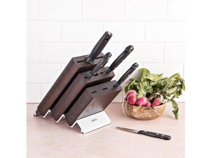 Blok na nože dřevěný Ikon na 9 kusů hnědý