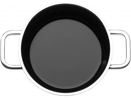 Nízký hrnec s poklicí Fusiontec Functional WMF 20 cm černá
