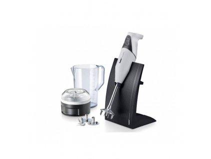 Tyčový mixér Bamix SwissLine M200 bílý + Multifunkční krouhač Bamix SliceSy