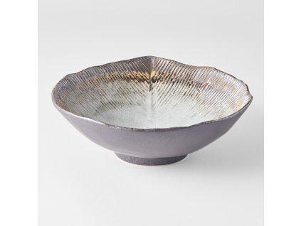 Nepravidelná mísa Akane Grey 24/22 cm
