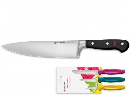 Kuchařský nůž 2v1 20 cm + sada barevných nožů zdarma WÜSTHOF