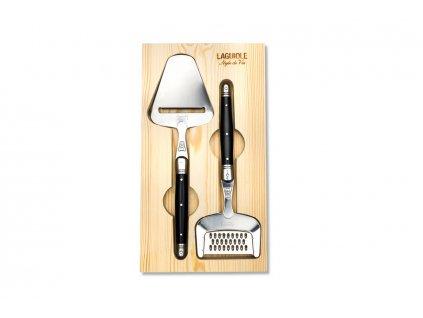 Kráječ a struhadlo na sýr Laguiole Premium černá