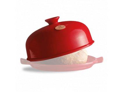 Náhradní horní díl k formě na pečení chleba červený Burgundy Emile Henry