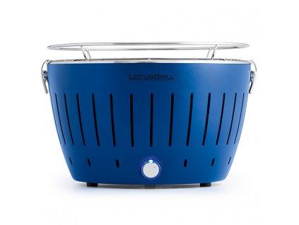 Bezkouřový gril LotusGrill modrý  + gelový podpalovač + taška + sada baterií