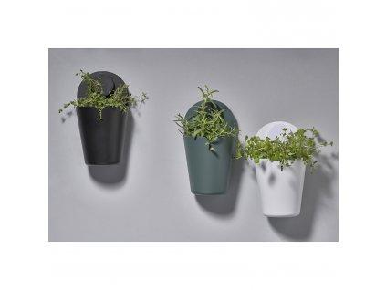 Nástěnný kbelík 26,5 cm PUCK white ZONE