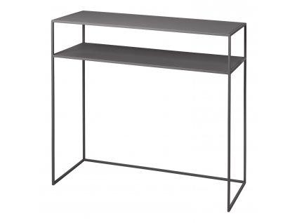 Konzolový odkládací stolek s poličkou FERA šedý Blomus