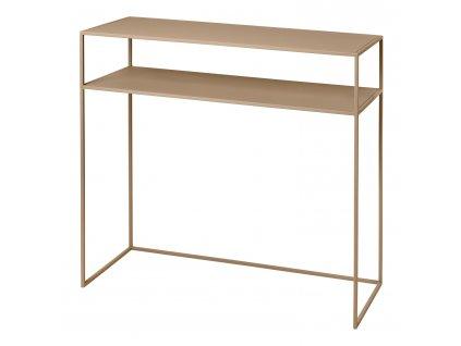 Konzolový odkládací stolek s poličkou FERA béžový Blomus