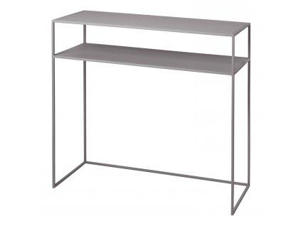 Konzolový odkládací stolek s poličkou FERA světle šedý Blomus