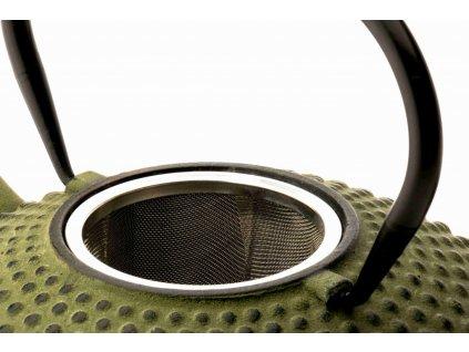Litinová konvice na čaj Xilin Bredemeijer zelená 1,2 l