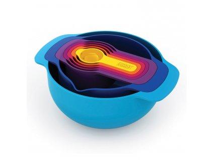 Sada stohovatelných mís a odměrek Multi-colour Nest™ 7 Plus Joseph Joseph