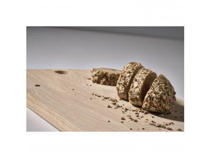 Dřevěné prkénko s otvorem dub 59 x 15 cm SILVA ZONE