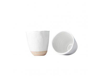 Hrnek bez ucha s nepravidelným okrajem Tea Cup bílý 300 ml MIJ
