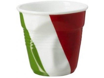 Kelímek na espresso 8 cl s italskou vlajkou Froissés REVOL