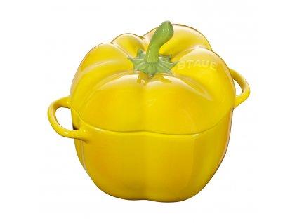 Hrnec ve tvaru papriky 0,45 l žlutá Staub