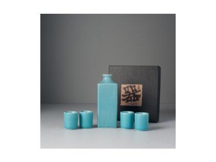 Sada na saké Turquoise 5 ks