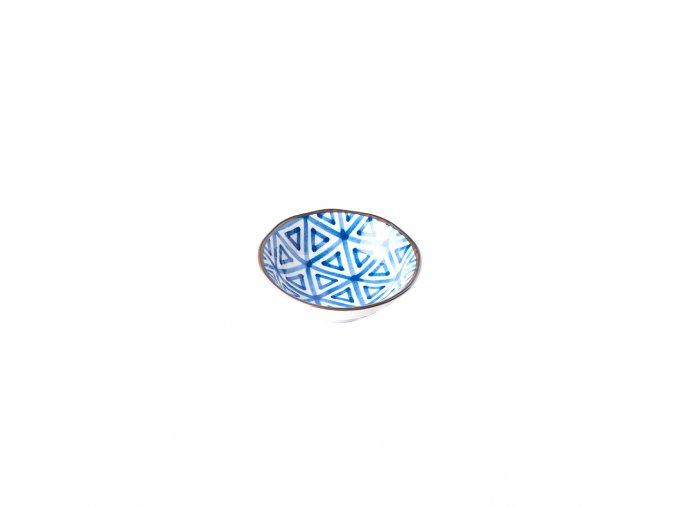 Malá miska Triangle INDIGO IKAT 11 x 4 cm