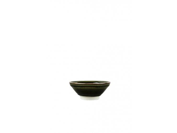 Střední mísa 17 x 6 cm tmavě zelená