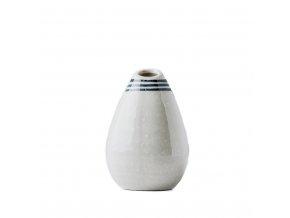 Váza kapkovitého tvaru bílá 10 cm