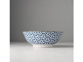 Velká mísa Herringbone INDIGO IKAT 19 x 7,5 cm