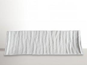 Hranatý talíř na sushi Crumpled bílý 33 x 11 cm