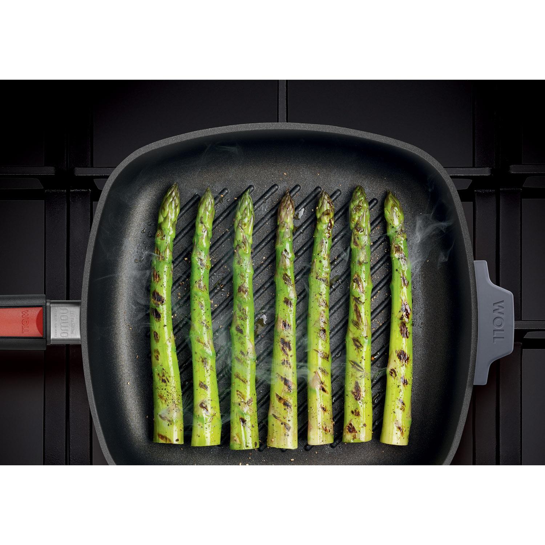 WOLL Nowo Titanium grill pánev, odnímatelná rukojeť, 28x28 cm