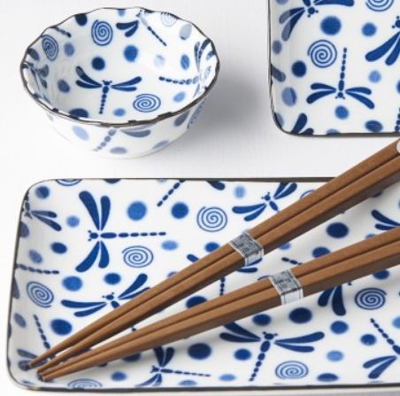 Sushi set Blue Dragonfly 6 ks