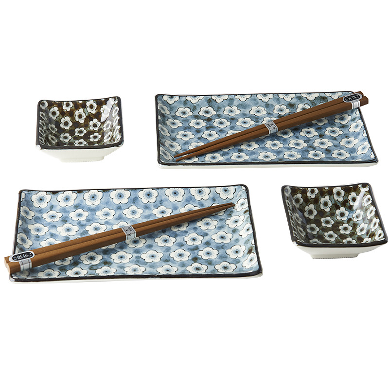 Sushi set Navy & White UME Design 6 ks