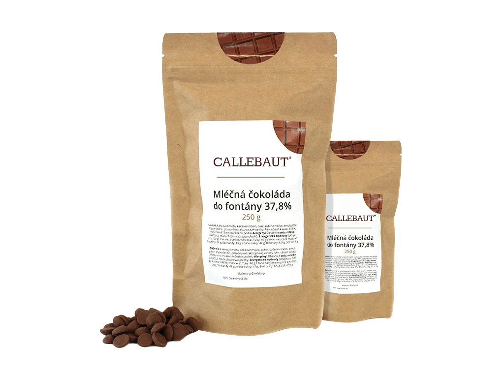 Mléčná čokoláda do fontány Callebaut 37,8% 500 g (2 x 250 g)