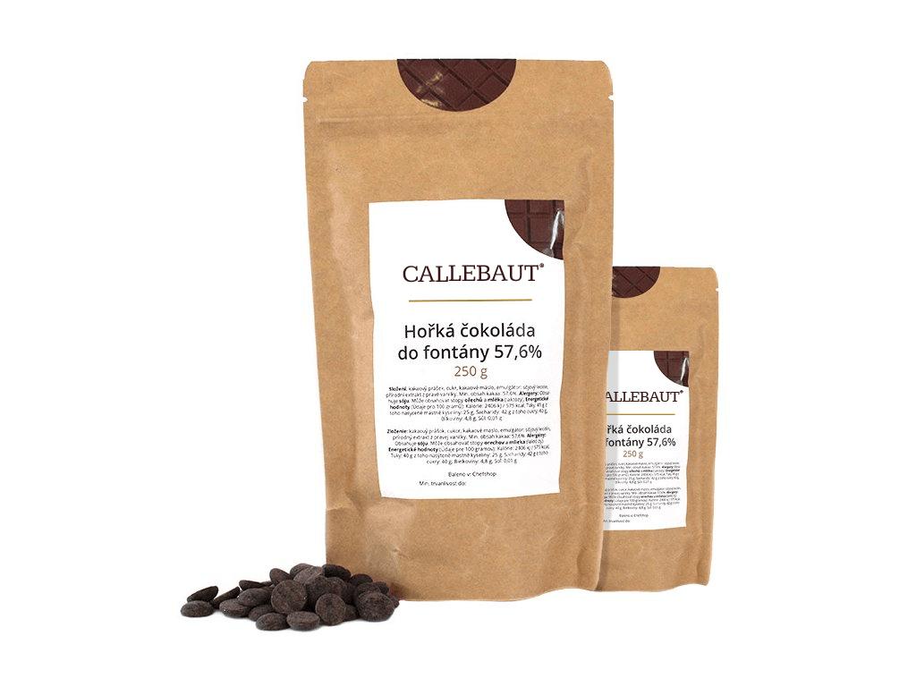 Hořká čokoláda do fontány Callebaut 57,6% 500 g (2 x 250 g)