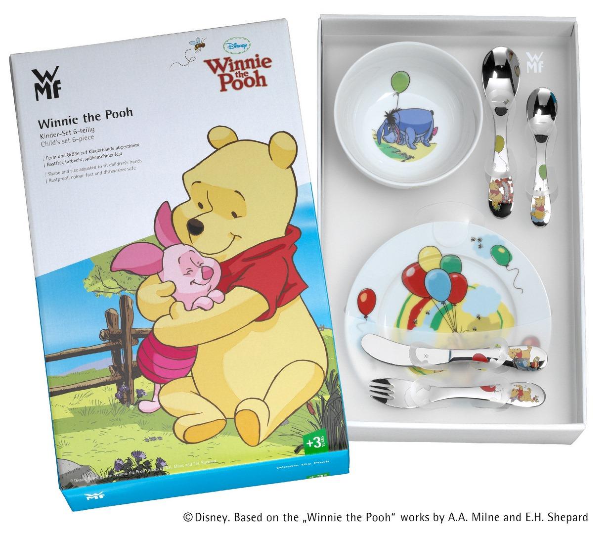 WMF Dětský jídelní set Medvídek Pú 6 ks