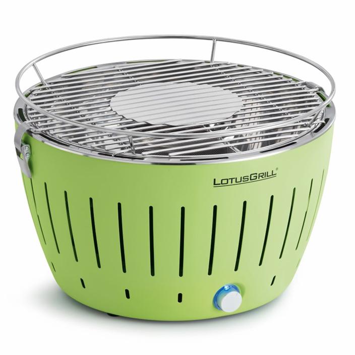 LotusGrill XL Bezkouřový gril na dřevěné uhlí, zelený velký Lotus Gril