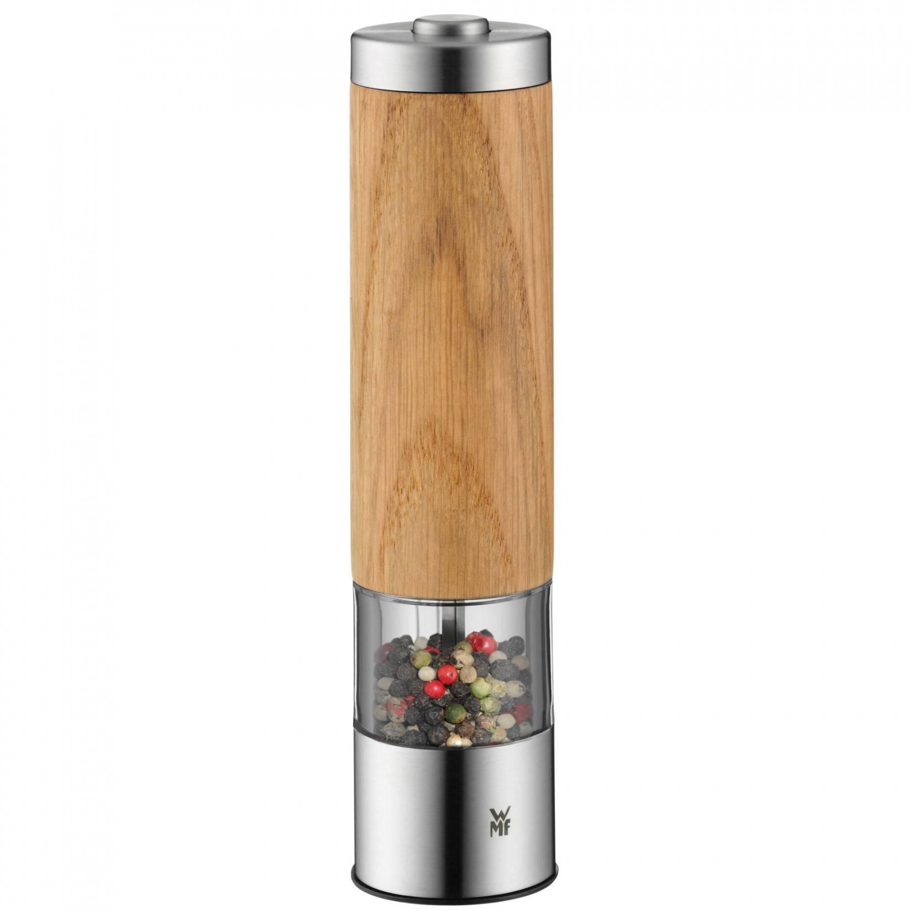 WMF elektrický mlýnek na pepř/sůl dřevěný
