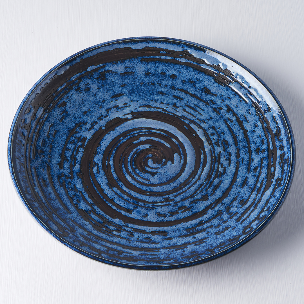 MIJ Kulatý talíř Copper Swirl 25 cm