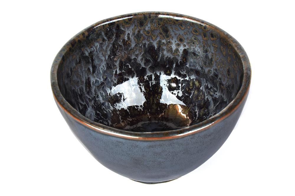 MIJ Black Pearl vysoká miska černá 13 cm