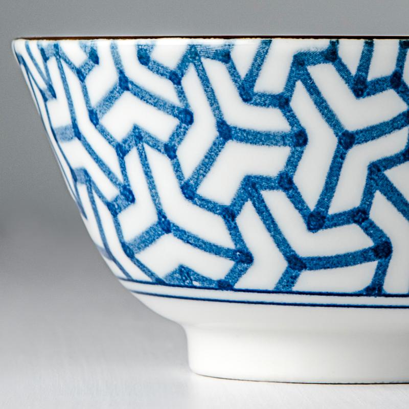 MIJ Indigo Ikat střední mísa herringbone 13 cm