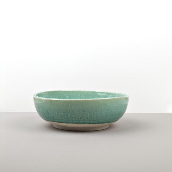 MIJ Kulatá servírovací mísa nepravidelný tvar Turquoise 23 cm