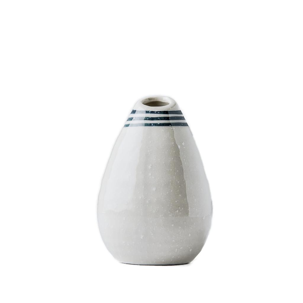 MIJ Váza kapkovitého tvaru bílá 10 cm