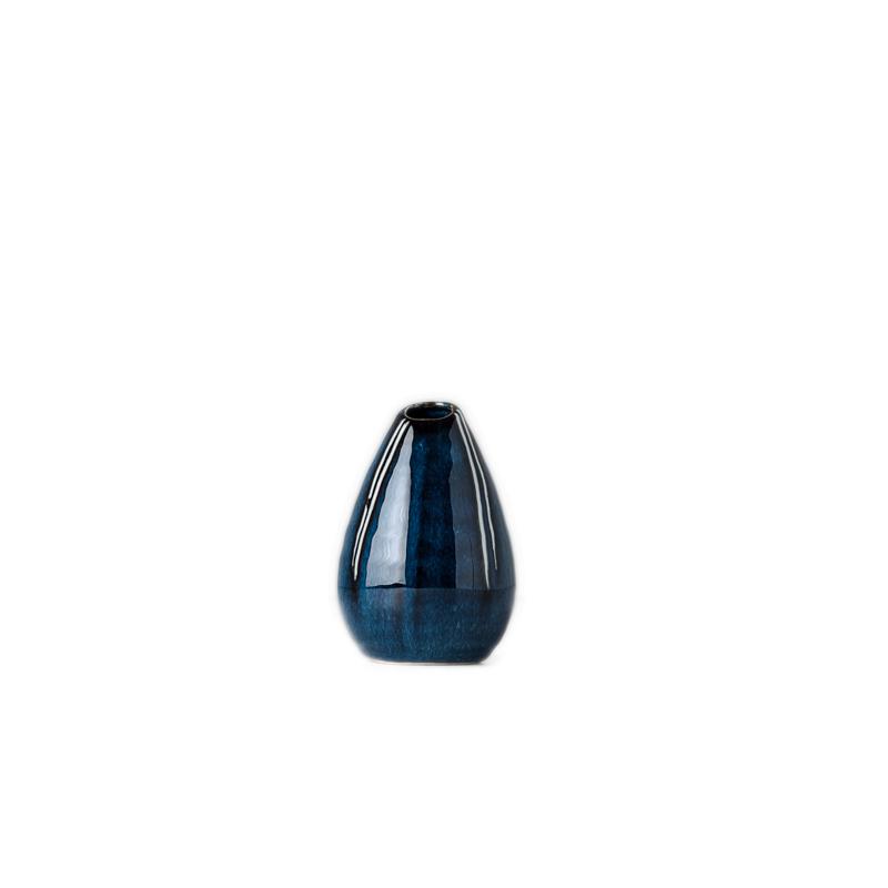 MIJ Váza kapkovitého tvaru modrá 10 cm