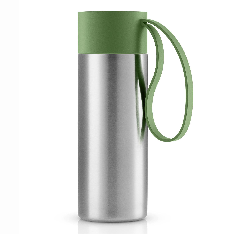 Nerezový termohrnek To Go s uzávěrem v rostlinné zelené 0,35 l