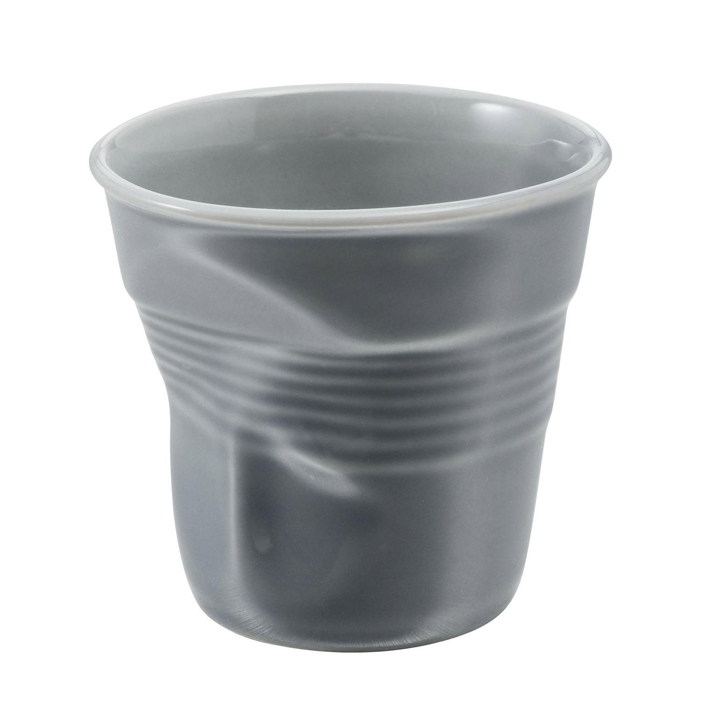 Kelímek na espresso Froissés šedý 8 cl
