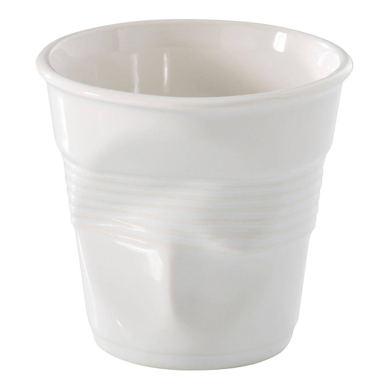 Kelímek na cappuccino Froissés bílý 18 cl