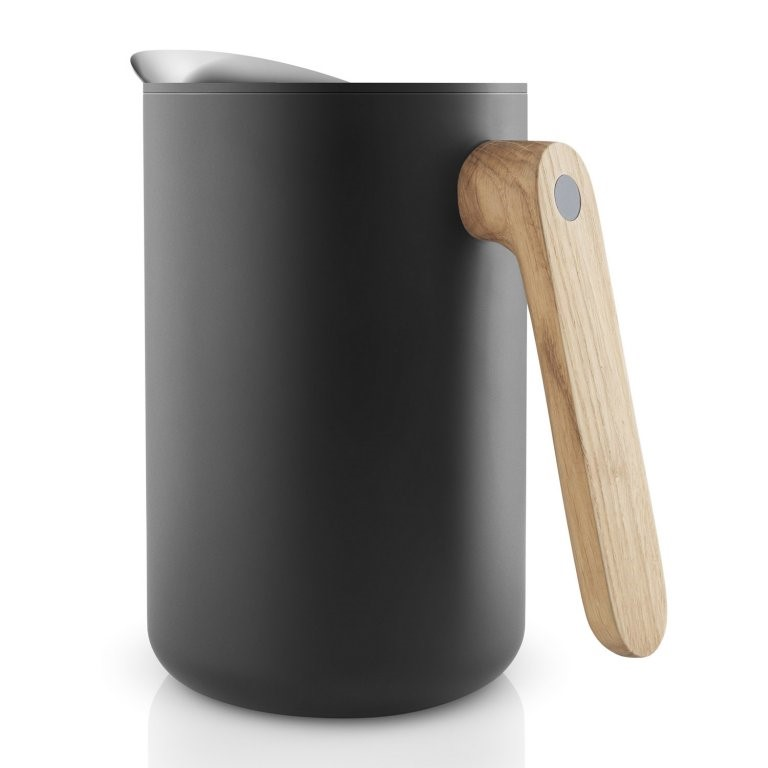 Eva Solo Vakuová termoska s dřevěnou rukojetí Nordic kitchen černá 1,0 l