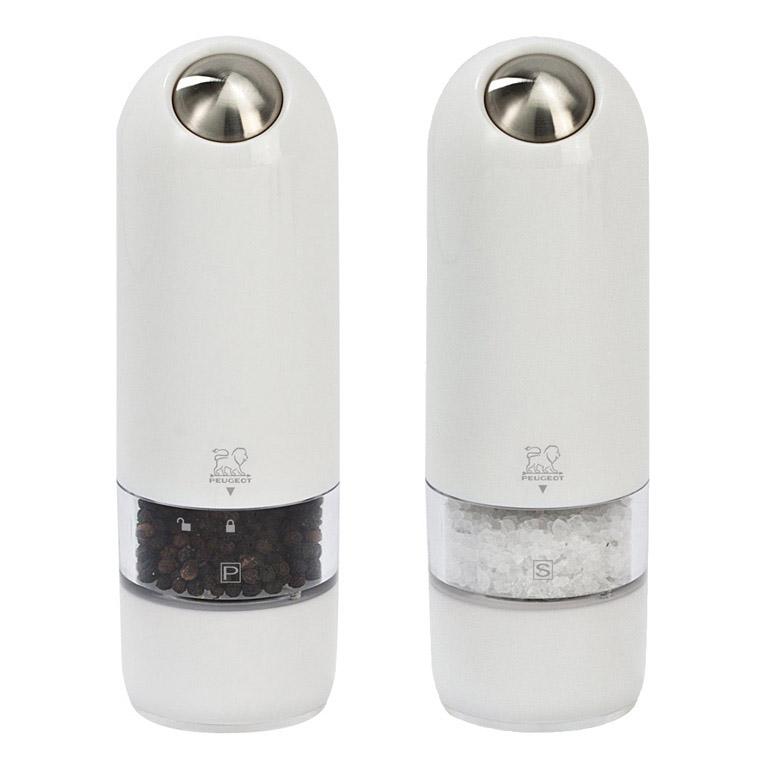 Produktové foto Dárkový set elektrických mlýnků na pepř a sůl bílý ALASKA