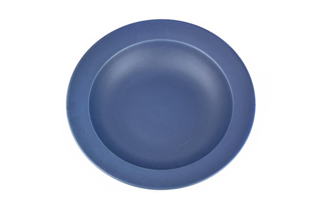 MIJ Hluboký talíř s širokým okrajem 21,5 x 4,5 cm inkoustově modrý