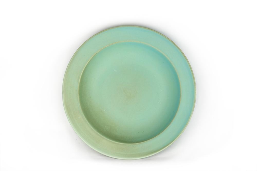 MIJ Hluboký talíř s širokým okrajem 21,5 x 4,5 cm modrozelený