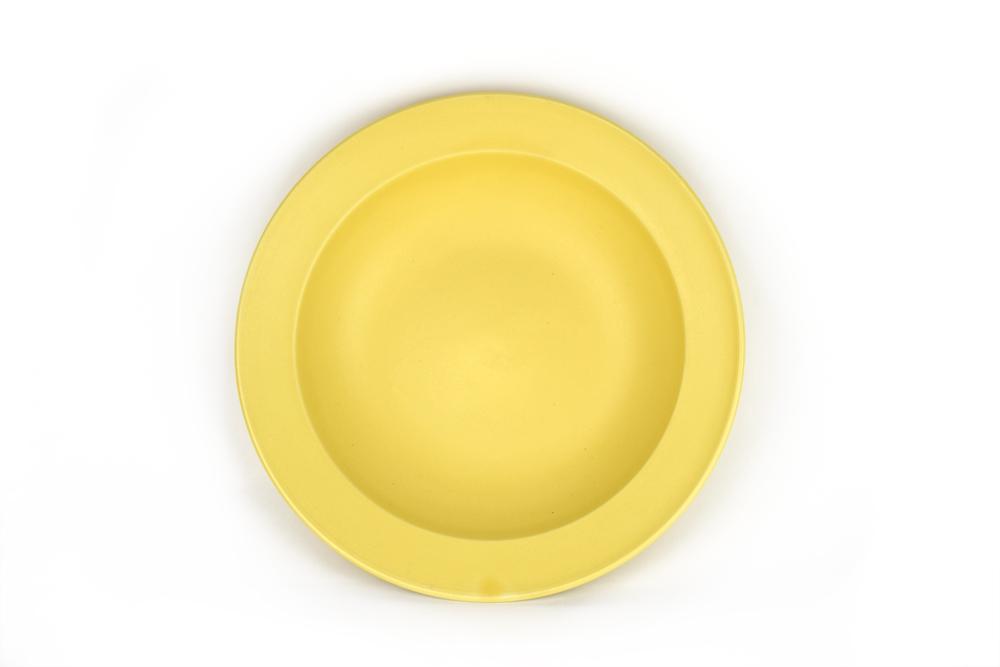 MIJ Hluboký talíř s širokým okrajem 21,5 x 4,5 cm žlutý